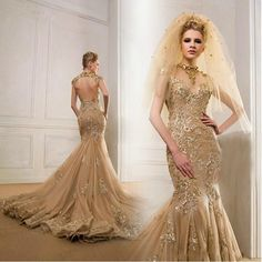 Wholesale New Expensive Wedding Dresses Bateau Lace Puffy High Low ...
