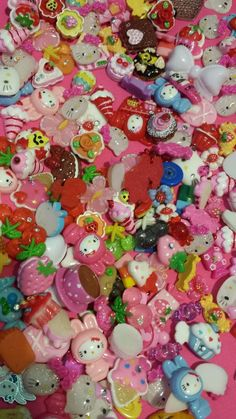 300 + lot Decoden Sweets Deco Resin Kawaii Cabochon Assortment Assorted Kitty