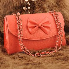 Light #red embossing bow ornament #clutch evening bag