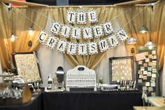 craft show booth by The silver craftsman - love the colors and the use of the banner