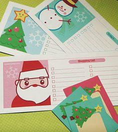 Etiquetas libres de navidad, lista de tareas y lista de compras printables! - Glitter Libro
