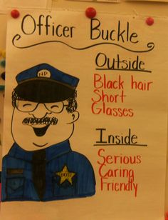 """Character Analysis/Character Trait example --> this is an activity using the book """"Officer Buckle and Gloria"""". It helps children discuss a story and give adjectives to describe a main character in a book Reading Strategies, Reading Activities, Teaching Reading, Teaching Ideas, Guided Reading, Primary Teaching, Speech Activities, Comprehension Strategies, Reading Groups"""