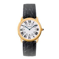 Ronde solo de Cartier watch, large model - Quartz, yellow gold, steel - Fine Timepieces for men - Cartier