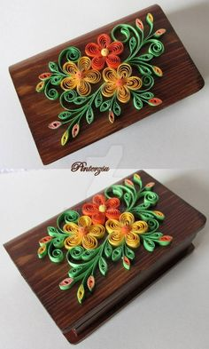 Quilled box by pinterzsu.deviant… on … Quilled box of pinterzsu.deviant … on @ DeviantArt More Papercrafts on Art Quilling – Papercrafts on Art Quilling – DeviantArtQuilled Jewelery Box by Nupur Bhatia / exciting Neli Quilling, Paper Quilling Flowers, Paper Quilling Cards, Quilling Work, Paper Quilling Patterns, Quilled Paper Art, Quilling Jewelry, Quilling Paper Craft, Paper Crafts