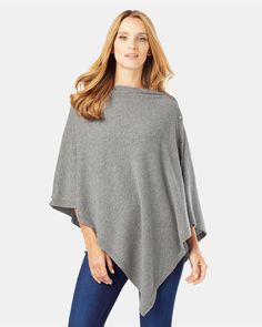 Phase Eight Cashmere Blend Button Wrap Grey