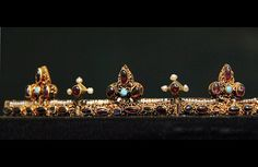 Funeral crown of the queen, Anna of Antioch - Found from the graves of Béla III (1172-96) Hungarian National Museum
