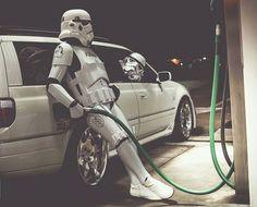 PsBattle: IRL Stormtrooper's filling up gas Star Wars Fan Art, Film Star Wars, Star Wars Poster, Star Trek, Stormtrooper, Darth Vader, Images Star Wars, Rock Poster, Star Wars Wallpaper