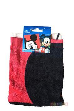 Tolukette Mickey Mickey rouge | #Toluki http://www.toluki.com/prod.php?id=650 #débarbouillette #enfant