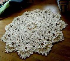 Écru géant 3D au Crochet napperon tapis, tapis de sol, tapis de ...
