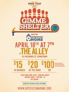 Operation Home Presents 3rd Annual Gimme Shelter on Thursday with $15 Tickets