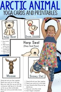 These yoga poses are perfect for your arctic animal unit. They are also great for the winter time. A must try even for someone who has never done kids yoga. Too much fun not to do! Polo Sul, Polo Norte, Artic Animals, Arctic Animals For Kids, Animal Yoga, Yoga Posen, Animal Habitats, Thinking Day, Yoga For Kids