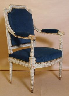"Beautiful french neoclassic painted fauteuil "" à la reine"" by Jean-Baptiste Bernard Demay (1759-1848) Collection of the museum of decorative arts, Paris"