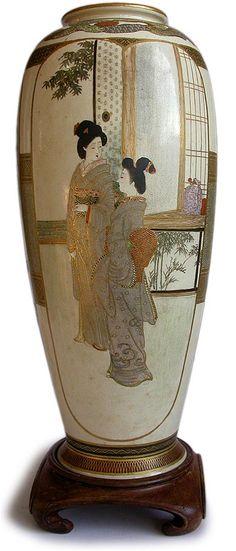 Kozan Satsuma VaseJapanese AntiquesMore Pins Like This At FOSTERGINGER @ Pinterest