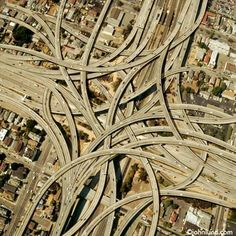 The MacArthur Maze in Oakland, Ca. - Largest freeway interchange in the world. I'm nervous just looking at it.