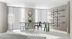 House Furniture Design, Interior Design Living Room, House Design, Wood Images, Thing 1, Presentation Design, Interior Architecture, Shelves, Yabu Pushelberg