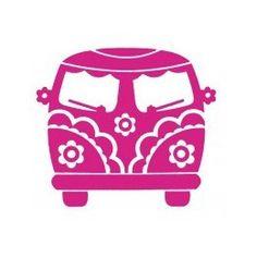 Minibus VW Peace and Love rose : transfert velours
