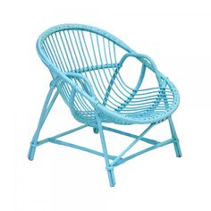 Lloyd loom art deco rocker i want this for the home pinteres - Fauteuil bleu turquoise ...