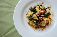 Swiss Chard with Orange Citrus Dressing. Recipe by Maya Eid of Nuts and Bowls