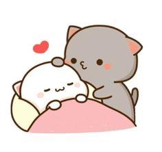 Cute Anime Cat, Cute Bunny Cartoon, Cute Kawaii Animals, Cute Cartoon Pictures, Cute Love Cartoons, Cute Cat Gif, Cute Panda Wallpaper, Cute Couple Wallpaper, Cute Disney Wallpaper