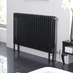 Radiateur Style Fonte Noir Laqué 600 x 1011mm - 2002 watts - Image 1