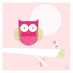 One Little Owl Canvas Reproduction from PoshTots
