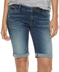 057ef71178 Women s Juicy Couture Midrise Denim Bermuda Shorts