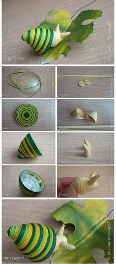 Quilling a snail, so creative Neli Quilling, Quilling Dolls, Origami And Quilling, Quilling Paper Craft, Paper Crafts, Quilling Ideas, Paper Quilling Tutorial, Paper Quilling Patterns, Quilled Paper Art