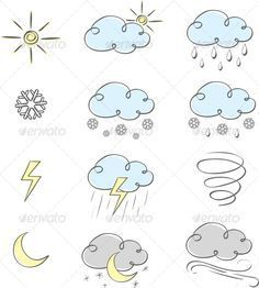 doodle weather icons - Google Search