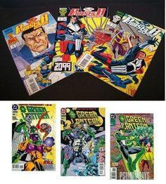 Lot of 6 The Punisher 2099 & Green Lantern Comic Books 1993 1994 1995 Marvel Comic Books For Sale, Vintage Comic Books, Marvel Comic Books, Vintage Comics, Marvel Comics, Green Lantern Comics, Lantern Set, Thing 1, Punisher