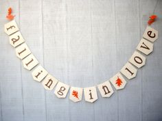 falling in love banner fall wedding banner by JDooreCreations, $15.00