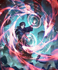 Card: Rite of Exorcism Fantasy Wizard, Fantasy Art Men, Beautiful Fantasy Art, Fantasy Artwork, Fantasy Character Design, Character Design Inspiration, Character Art, Avengers Cartoon, Magic Design