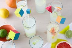 Easy tutorial: Make vibrant wooden block drink stirrers Tuts+ via WeeBirdy.com