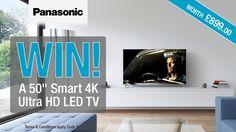 "#Panasonic 50"" Smart 4K Ultra HD LED TV competition - Winner: Dan Hutson"