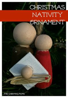 Make this Christmas Nativity Ornament. DIY Christmas Craft.