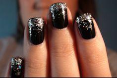"Silvester Nail Art ""Black Ice"""