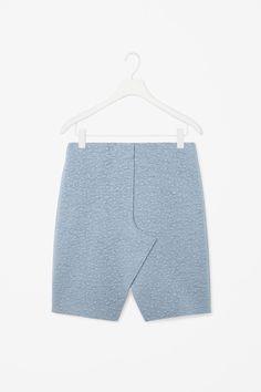 Overlap wool skirt