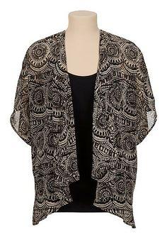 Printed chiffon kimono top (original price, $29) available at #Maurices