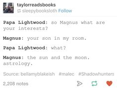 HAHAHAH IM DEAD Malec// i tried to scroll past this