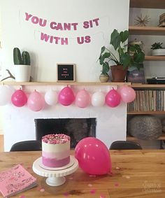 A Totally Fetch Mean Girls Party - Sugar & Sparrow Mean Girls Party, Mean Girls Movie, 13th Birthday Parties, Birthday Party For Teens, 23rd Birthday, Birthday Ideas, Birthday Cakes, Birthday Themes For Adults, Girl Sleepover