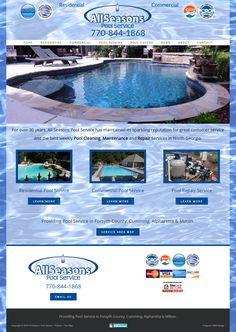 Pool Service, Portfolio Web Design, Pool Cleaning, Wordpress, Seasons, Beautiful, Seasons Of The Year
