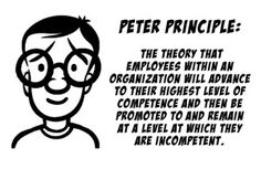 The Peter Principle of In-Competence United States Military Academy, Central Intelligence Agency, Senior Management, Harvard Law, Self Awareness, Law School, Funny Facts, Leadership