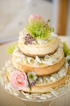 A wedding cake! Cheese cake with white chocolate swirls. Beautiful and tasted great! Made by Alyeen Wakefield.