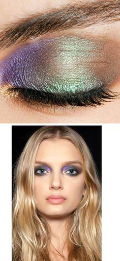 peacock eyeshadow makeup tutorial