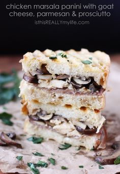 Chicken Marsala Panini with Goat Cheese, Prosciutto & Parmesan