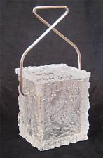 "VINTAGE 1960's Mid Century Modern Signed WILARDY LUCITE ""Block of Ice"" BUCKET"