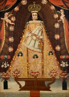 """https://flic.kr/p/Te5Zg1   Cuzco School """"Virgin of Bethlehem""""   largesizepaintings.blogspot.com/  The Cuzco School (Escuela Cuzqueña) was a Roman Catholic artistic tradition based in Cusco, Peru (the former capital of the Inca Empire) during the Colonial period, in the 16th, 17th and 18th centuries. It was not limited to Cuzco only, but spread to other cities in the Andes, as well as to present day Ecuador and Bolivia."""