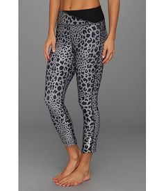 Nike Twisty Printed Crop Neutral Grey/Black - Zappos.com Free Shipping BOTH Ways