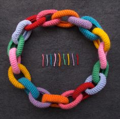 The Babbionz - Collana Catena Arcobaleno - Wool crochetted necklace
