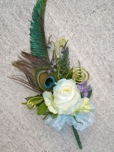 Image detail for -2010 Corsage Winner! Rose & Peacock Feather Corsage in Tacoma, WA ...