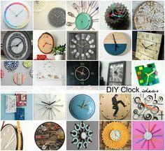 DIY Clock Ideas - Th